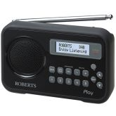 Roberts Radio PLAY BLACK Dab/Fm RDS Radio With Built-In Battery Charger