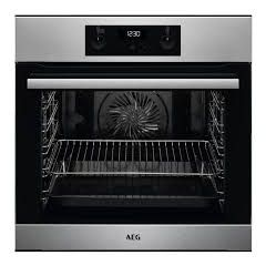 AEG BES255011M Built In S/Steel Single Oven With Steambake