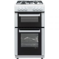 Atlantic ATLANG50TWINW 50Cm T/Cavity Gas White Cooker Inc Lpg Jets