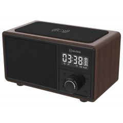 Av:Link 120.220 Fusion: Bluetooth Speaker With Clock Radio And Wireless Charging Plate