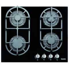 Baumatic BHR600BL 60Cm Gas On Black Glass Hob