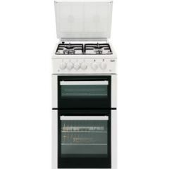 Beko BCDG504W 50Cm Twin Cavity Gas Cooker Lpg Convertable