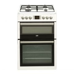 Beko BDVG675NTW 60Cm Gas Cooker With Double Oven