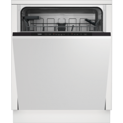 Beko DIN15C20 14 Place Integrated Dishwasher - Stainless Steel - A++ Energy Rated