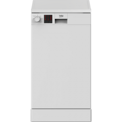 Beko DVS05C20W 45Cm 10 Place Slimline Dishwasher - White - A++ Energy Rated