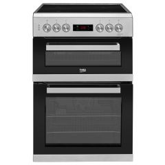Beko KDC653S 60Cm Silver Double Oven Electric Cooker