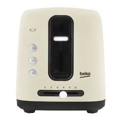Beko TAM7201C 2 Slice Toaster Cream