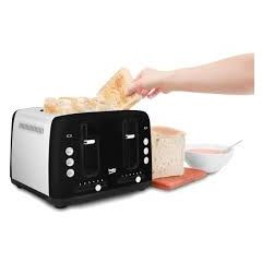 Beko TAM7401B Traditional 4 Slice Toaster Black