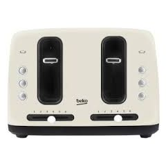 Beko TAM7401C Traditional Cream 4 Slice Toaster