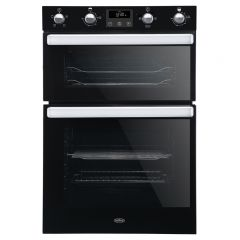 Belling BI902FP BLK Built In Multifunction Electric Double Oven Black