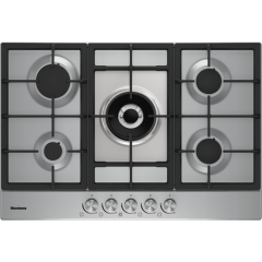 Blomberg GMB83512 75Cm Gas Hob Stainless Steel (Lpg Jets Available To Order)