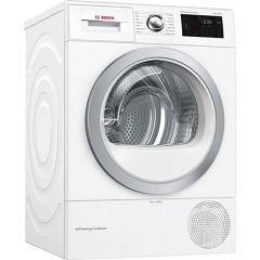 BOSCH WTWH7660GB Selfcleaning Condenser Heat Pump Tumble Dryer - White - A++ Energy Rated