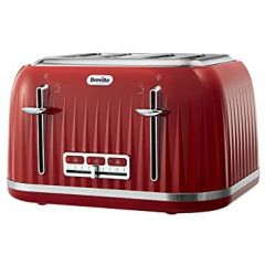 Breville VTT783 Impression Collection 4 Slice Toaster Red