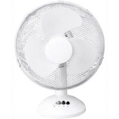 Daewoo COL1063GE 12` Desk Top Fan In White, 3 Speed Settings