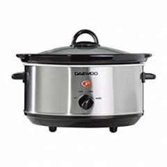 Daewoo SDA1364 Stainless Steel 3.5L Slow Cooker