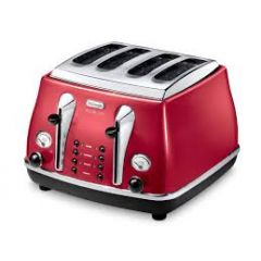 Delonghi CTOM4003-R Delonghi (Red) Micalite Icona 4slice Toaster
