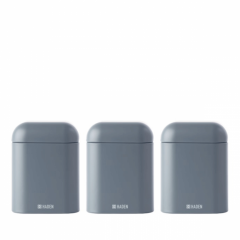 Haden 193483 Perth 3 Set Of Canisters In Slate Grey