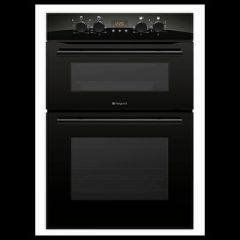 Hotpoint DXB83K Black Built-In Double Oven,8 Functions,Solarplus Grill + Push Knobs