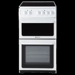 Hotpoint HAE51PS 50Cm Wide Ceramic Hob Twin Cavity Cooker