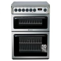 Hotpoint HAE60XS 60Cm Stainless Steel Double Oven Cooker