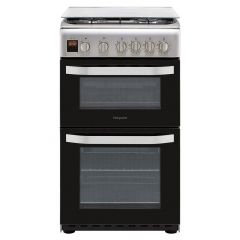 Hotpoint HD5G00CCX 50Cm Gas Cooker Twin Cavity With Lidded Hob