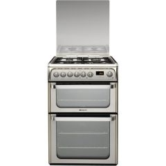 Hotpoint HUD61XS 60Cm Lidded Dual Fuel Cooker S/Steel