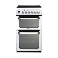 Hotpoint HUE53PS 50Cm White Ceramic Double Oven Cooker