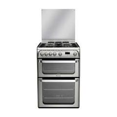 Hotpoint HUG61X 60Cm Gas Double Oven F/Standing Cooker