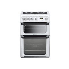 Hotpoint JLG60P 60Cm Gas D/Oven White