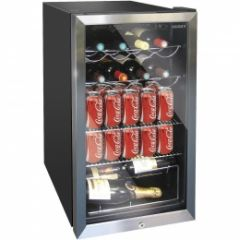 HUSKY HM39 47Cm Black With Glass Door U/Counter Wine Chiller