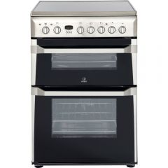 Indesit ID60C2X 60Cm Double Oven Stainless Steel Ceramic Hob