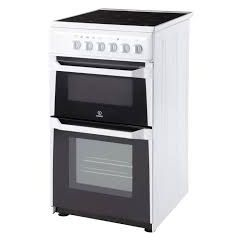 Indesit IT50CWS 50Cm Ceramic Twin Cavity Static Cooker White