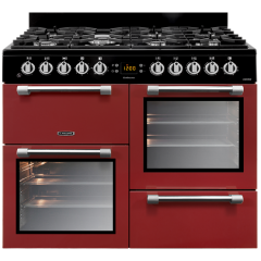 Leisure CK100F232R 100Cm Dual Fuel Red Cookmaster Range Cooker