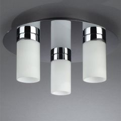 Massive 18543 Aqua Ice Triple Plate Ceiling Light