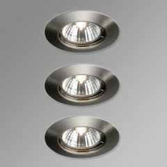 Massive 59393/17/10 Alpha Fixed 3 Pack Downlights - Brushed Chrome