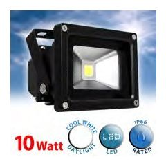 Minisun 17081 High Powered 10W Daylight Ip66 Led Floodlight Black