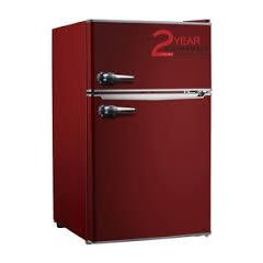 Montpellier MAB2030R 49Cm U/Counter Retro Style Red Fridge Freezer