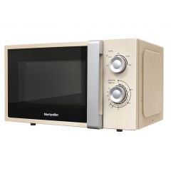 Montpellier MOR20C 20L Cream Solo Microwave Manual Control 700W