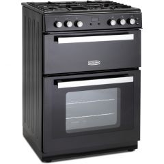Montpellier RMC61GOK 60Cm Black Mini Range Double Oven Gas Cooker