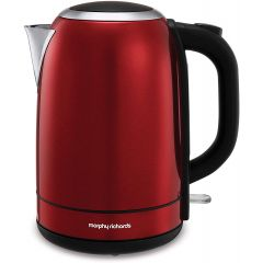 Morphy Richards 102782 Equip Stainless Steel Red Jug Kettle