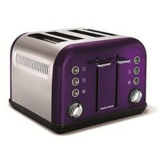 Morphy Richards 242016 Plum Accents 4 Slice Toaster