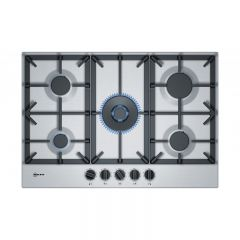 Neff T27DS59N0 75Cm Gas Hob, Stainless Steel, Cast Iron Supports