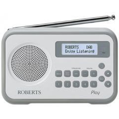Roberts Radio PLAY DAB / FM RDS Radio With Built-In Battery Charger White