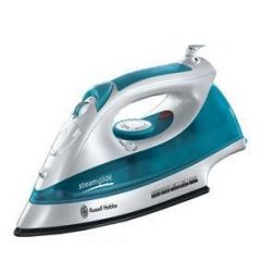 Russell Hobbs 15081 2400W Steamglide Iron, White/Blue