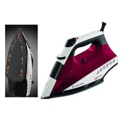 Russell Hobbs 22520 2400W Auto Steam Non Stick Soleplate Iron White/Pink