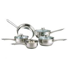 5pc Essential Stainless Steel Cookware Set (Induction Safe)