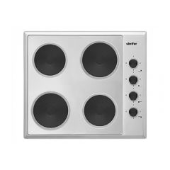 Simfer SP60X 60Cm Inox Solid Plate Electric Hob