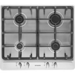 Stoves SGH600C 4 Zone Gas Hob With Cast Pan Supports S/S