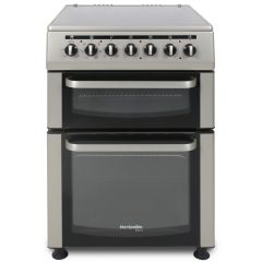 Montpellier TCC60S 60Cm Twin Cavity Electric Cooker With Ceramic Hob Silver