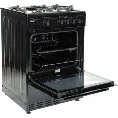 Teknix TKGF60BL 60Cm Single Cavity Black Gas Cooker